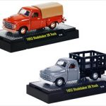 Detroit Cruiser 1952 Studebaker 2R 2 Trucks Set WITH CASES 1/64 Diecast Models by M2 Machines