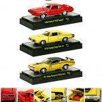 Detroit Muscle 3 Cars Set Release 24 WITH CASES 1/64 Diecast Car Models by M2 Machines