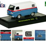 Detroit Muscle 1965 Ford Econoline Vans Set of 2 Shelby Release 29 S WITH CASES 1/64 Diecast Models by M2 Machines