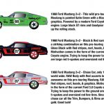 Auto Mods 1968 Ford Mustang 2+2 2 Cars Set WITH CASES 1/64 Diecast Model Cars by M2 Machines
