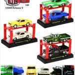 Auto Lift Series 9 6pc Set 1/64 Diecast Car Models by M2 Machines