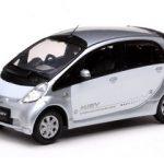 Mitsubishi i Miev White/Silver 1/43 Diecast Model Carby Vitesse