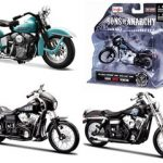 Sons of Anarchy Harley Davidson Motorcycle 3pc Set Series 2 1/18 by Maisto