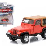 1995 Jeep Wrangler Rio Grande Orange All Terrain Series 3 1/64 Diecast Model Car by Greenlight