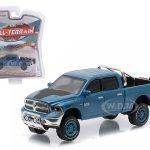 2014 Dodge Ram 1500 Big Horn Blue Pickup Truck All Terrain Series 3 1/64 Diecast Model Car by Greenlight