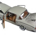 1958 Mercedes 220SE Coupe Light Grey 1/18 Diecast Model Car by Sunstar