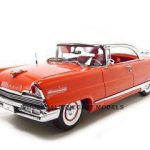 1956 Lincoln Premiere Red Platinum1/18 Diecast Car Model by Sunstar