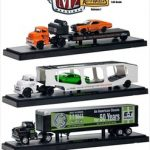 Auto Haulers Series 7 3pc Diecast Trucks Set 1/64 Diecast Models by M2 Machines