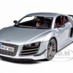 Audi R8 GT Silver 1/18 Diecast Model Car by Maisto