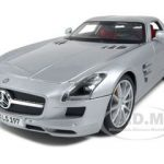 2011 Mercedes SLS AMG Gullwing Silver 1/18 Diecast Model Car by Maisto