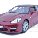 2011 Porsche Panamera Turbo Dark Red 1/18 Diecast Model Car by Maisto