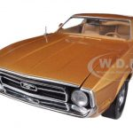1971 Ford Mustang Sportsroof Medium Brown 1/18 Diecast Car Model by Sunstar