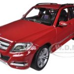 Mercedes GLK Class Red 1/18 Diecast Model Car by Maisto