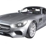 Mercedes AMG GT Silver 1/18 Diecast Model Car by Maisto