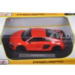 Audi R8 V10 Plus Orange 1/18 Diecast Model Car by Maisto