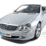 Mercedes SL Class Convertible Silver 1/18 Diecast Car Model by Maisto