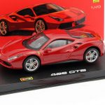 Ferrari 488 GTB Red Signature Series 1/43 Diecast Model Car by Bburago