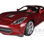 2014 Chevrolet Corvette C7 Stingray Metallic Red 1/18 Diecast Model Car by Maisto