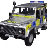 Land Rover Defender 110 Station Wagon UK Police 1/18 Diecast Car Model by Universal Hobbies