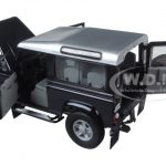 Land Rover Defender 90 Station Wagon Blue with Silver 1/18 Diecast Model Car by Universal Hobbies