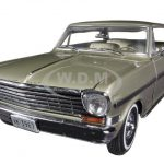 1963 Chevrolet Nova Hard Top Autumn Gold 1/18 Diecast Car Model by Sunstar