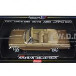 1963 Chevrolet Nova Open Convertible Saddle Tan 1/18 Diecast Model Car by Sunstar