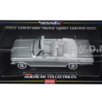 1963 Chevrolet Nova Open Convertible Satin Silver 1/18 Diecast Model Car by Sunstar