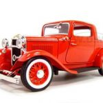 1932 Ford 3 Window Coupe Red 1/18 Diecast Model Car by Road Signature