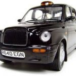 1998 London Taxi Cab Black 1/18 Diecast Model Car by Sunstar