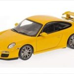 2009 Porsche 911 (997 II) GT3 Yellow 1/43 Diecast Model Car by Minichamps