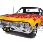 1968 Chevrolet El Camino Red with Flames 1/25 Diecast Model Car by First Gear