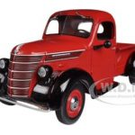 1938 International D-2 Pickup Truck IH Red / Black 1/25 Diecast Model by First Gear