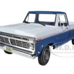 1973 Ford F-100 Style Side Pickup Truck Harbor Blue/White 1/25 Diecast Model by First Gear