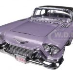 1957 Cadillac Eldorado Brougham Amethyst 1/18 Diecast Car Model by Sunstar
