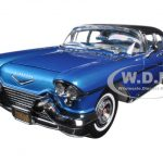 1957 Cadillac Eldorado Brougham Lake Placid Blue 1/18 Diecast Model Car by Sunstar