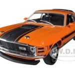 1970 Ford Mustang Mach 1 428 Twister Special Grabber Orange 1/24 Diecast Model Car by M2 Machines