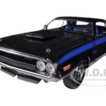 1970 Dodge Challenger T/A 340 Six Pack Black 75th Mopar Anniversary 1/24 Diecast Model Car by M2 Machines