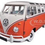 1960 Volkswagen Microbus Deluxe USA Model Red 1/24 Diecast Model by M2 Machines