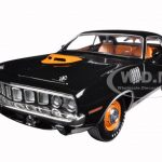 1971 Plymouth Cuda HEMI Black 50th Anniversary 1/24 Diecast Model Car by M2 Machines