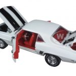 1969 Chevrolet Camaro Z/28 Dover White With Black Stripes 1/24 Diecast Model Car by M2 Machines