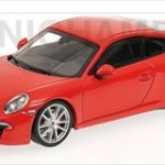 2012 Porsche 911 Carrera S (991) Red 1/43 Diecast Model Car by Minichamps