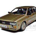 1981 Audi Quattro Colorado Beige 1/18 Diecast Car Model by Sunstar