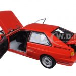 1981 Audi Quattro Coupe Red 1/18 Diecast Model Car by Sunstar