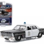 1967 Ford Custom New Hampton New Hampshire Police Car 1/64 Diecast Model Car by Greenlight