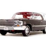 1963 Chevrolet Impala Hard Top Black 1/18 Diecast Model Car by Welly