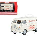 1962 Volkswagen Coca Cola Cargo Van Cream 1/43 Diecast Model by Motorcity Classics