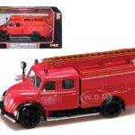 1961 Magirus Deutz Mercur TLF-16 Red 1/43 Diecast Model Car by Road Signature