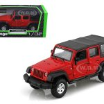 Jeep Wrangler Unlimited Rubicon 4 Doors Red 1/32 Diecast Car Model by BBurago