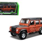 Land Rover Defender 110 4 Doors Orange 1/32 Diecast Model Car by Bburago