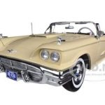 1960 Ford Thunderbird Open Convertible Tawney Beige 1/18 Diecast Car Model by Sunstar